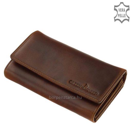 Kényelmesen nagy méretű sportos jellegű, minőségi női bőr pénztárca, amely valódi bőrből készült. Számos hasznos funkcióval láttuk el.