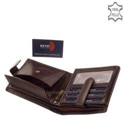 Klasszikus megjelenésű, RFID védelemmel, dekoratív CORVO BIANCO LUXURY márkájú elegáns és minőségi bőr pénztárca férfi vásárlóink számára