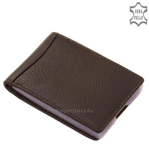 Minőségi bőrből készült kényelmes, fekvő kialakítású igazi bőr kártyatartó. Biztonságosan elhelyezheti bankkártyáit és névjegykártyáit.