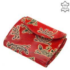 S Belmonte női pénztárca iguana mintával piros színben