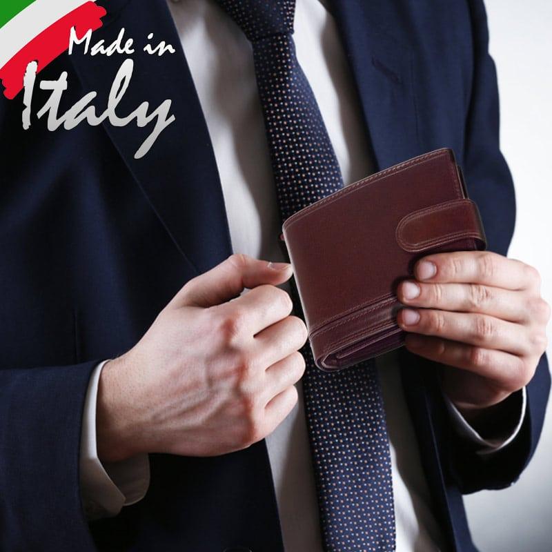 Pénztárca olasz bőrből