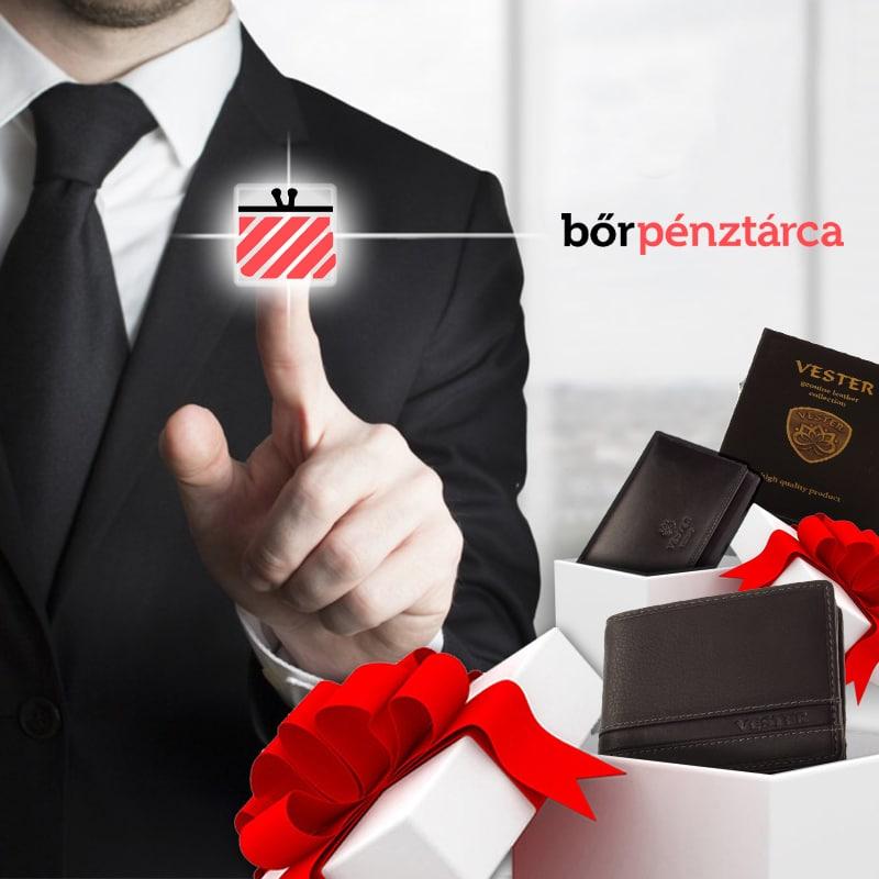 Bőrpénztárca webáruház cikk - Céges ajándék