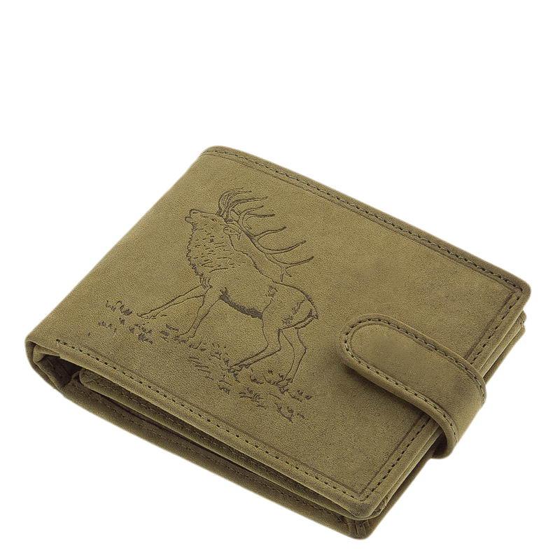 Vadász férfi pénztárca szarvas mintával zöld ASZ43 205d9c25d1