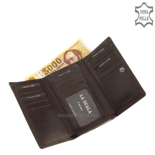 Nagy méretű női bőr pénztárca amely igazán minőségi bőrből készült, gondos tervezés után, a La Scala márkacsalád kedvelt terméke.