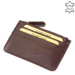SLM bőr kártyatartó kulcstartóval 70760-BARNA