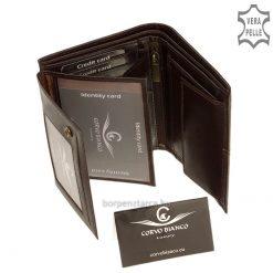 Valódi bőr irattartópénztárca