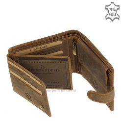 Kiváló minőségű, igazi bőrből gyártott, márkás férfi horgász bőr pénztárca, melynek mintás fedelére egy csuka látványos képe került.
