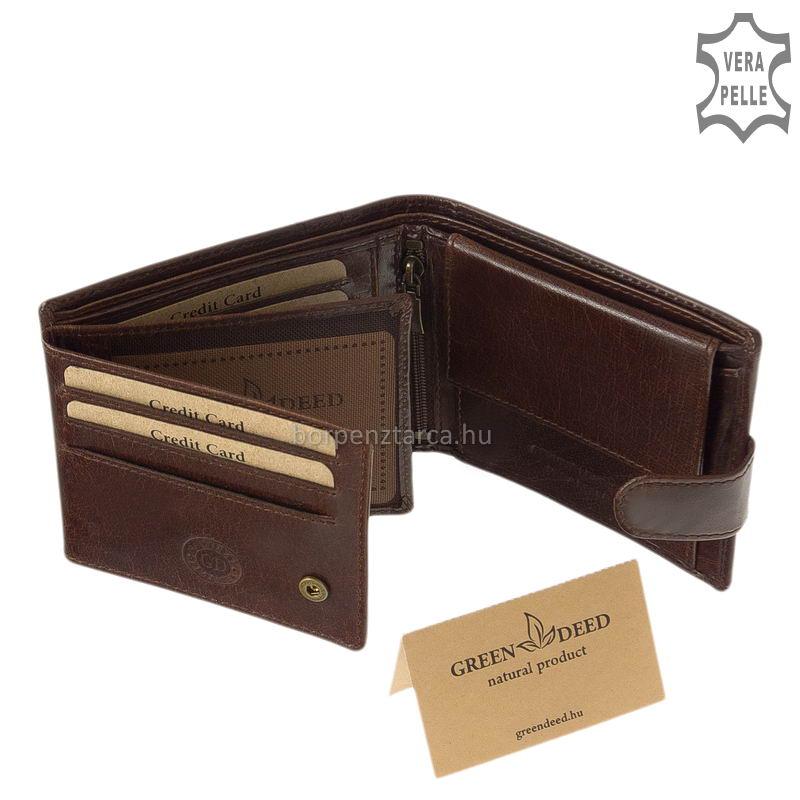 9bafe0193e18 Valódi bőr pénztárca díszdobozban GreenDeed PA1021/T