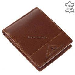 Egy igazán elegáns válogatott, minőségi bőrből készült fényes férfi valódi bőr pénztárca, amely különlegesen szép dizájnnal készült.