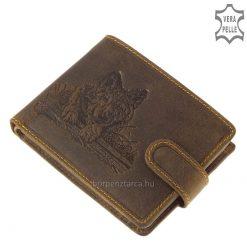 farkas mintás/mintával díszített férfi bőr pénztárca