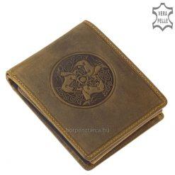Csodaszép kidomborodó motívumos benyomással készült valódi bőr minőségi pénztárca, melyet barna színben gyártunk. Díszdobozban küldjük!