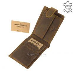 GreenDeed család minőségi terméke ez a barna férfi bőr pénztárca lovas íjász mintás külsővel, az íjászsport kedvelőinek. Díszdobozos modell!
