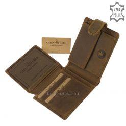 Egy igazán csodálatos mintás motívummal készült a GreenDeed valódi bőr fejlesztése a klasszikus barna férfi pénztárca turul mintával.