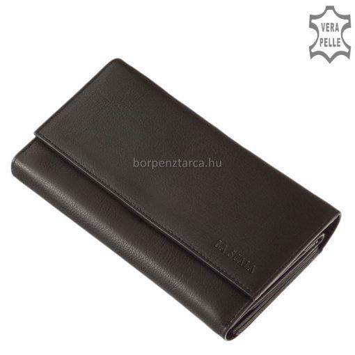 Nagy méretű és strapabíró, férfiaknak és nőknek is kínáljuk, minőségi anyagok felhasználásával készült bőr pincér pénztárca.