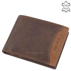 Valódi minőségi bőr felhasználásával készült GIULTIERI felirattal ellátott divatos férfi bőr pénztárca modell, belső elrendezése sportos.