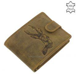 vadász férfi bőr pénztárca őz mintával
