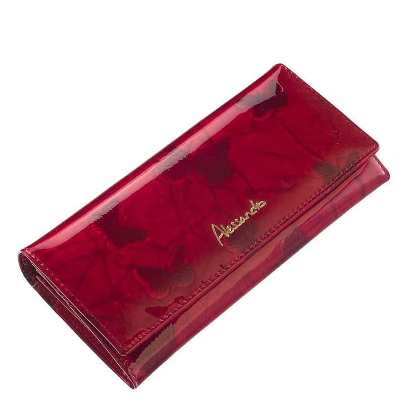 a4be9a7f5f19 Női pénztárca lakkbőrből Alessandro Paoli 35-07 - Bőrpénztárca