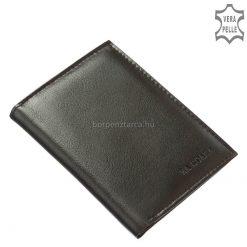 Finom tapintással rendelkező puha valódi nappa bőrből gyártott irattartó bőr pénztárca modell minőségi kivitelben. LA SCALA márkajelzéssel.