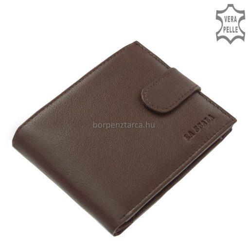 Könnyedén és gyorsan átlátható belső elrendezéssel gyártott klasszikus férfi bőr pénztárca, valódi bőrből a LA SCALA márkás modell.