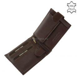 Finom tapintású valódi nappa bőrből gyártott klasszikus férfi bőr pénztárca minőségi korszerű gyártással készült termék. Kiváló elrendezéssel.