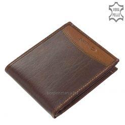 Kiváló minőségű, divatos és egyedi két színű kombinációval gyártott bőr férfi pénztárca amely barna és fekete bőrből készült. Díszdobozban!