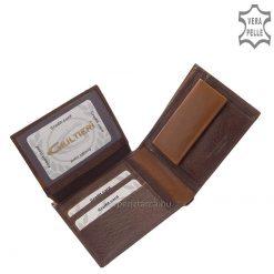 Giultieri termékcsaládunk legújabb klasszikus darabja a kétfajta igazi bőr használatával készített, kellemes tapintású férfi divat pénztárca.