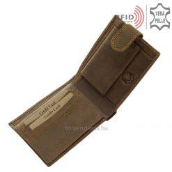 GreenDeed márka termékei közé tartozik ez az egyedi, valódi bőr férfi pénztárca, mely minőségi karakteres marhabőr felhasználásával készült.