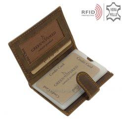 RFID bőr férfi kártyatartó