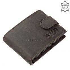 Minőségi bőrből gyártott WILD BEAST márkás kisebb méretű sportos fazonú egyedi férfi pénztárca