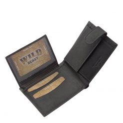 Több színben gyártott igazi klasszikus kialakítású valódi bőr felhasználásával készült, egyedi Wild Beast márkájú férfi pénztárca.