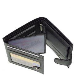 La Scala márkás minőségi alapanyagból készült klasszikus kialakítású férfi bőr pénztárca fekete színben.