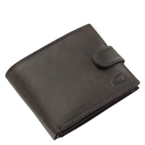 Természetes hatású elegáns valódi bőr férfi pénztárca, mely díszdobozban érkezik, így azonnal ajándékba is adható modell.
