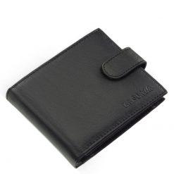 Kifinomult, klasszikus kialakítású férfi bőr pénztárca modellünk, amely minőségi valódi bőrből készült, elegáns fekete színben.