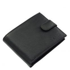 Puha tapintású, valódi nappa bőrből készült klasszikus férfi bőr pénztárca, LA SCALA termékcsaládunk egyik legújabb fekete színű modellje.