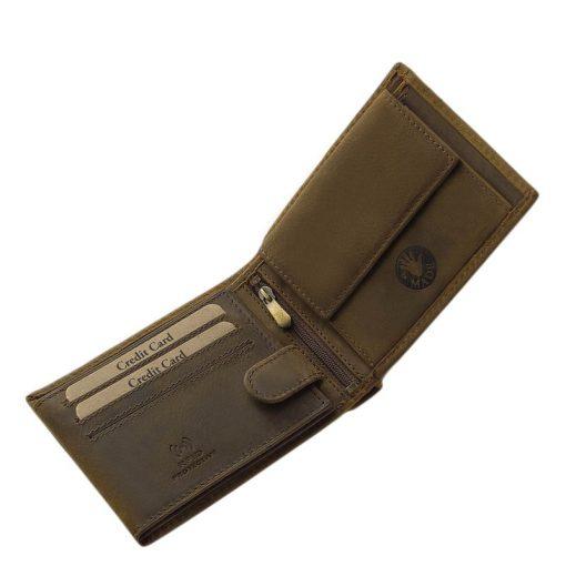 Bemutatjuk, díszdobozban forgalmazott, kedves tacsi mintás GreenDeed állatos férfi bőr pénztárca kollekciónkat, mely barna színben készül.