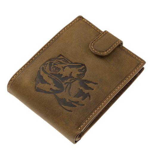 Kedves tacskó mintás, barna színű kutyás férfi bőr pénztárca kollekciónkat kifejezetten kutyagazdáknak terveztük, minőségi valódi bőrből.