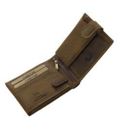 Valódi, rusztikus minőségi bőrből készült GreenDeed kutyás férfi bőr pénztárca mely barna színű egyedi külsővel rendelkezik.