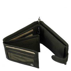 Valódi bőr pénztárca motor mintával fekete színben, a modell külsejét patentos átkapcsoló zárja le, kiváló minőségben készült motoros termék.