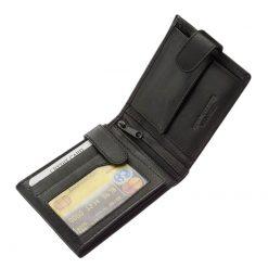 Minőségi nappa bőr férfi pénztárca. Ez a közepes méretű, klasszikus valódi bőr férfi pénztárca praktikus belsővel készült.