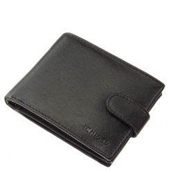 Chioco márkanévvel forgalmazott minőségi valódi bőr pénztárca fekete színben, magas bőr és munka minőségben praktikus kialakítással.