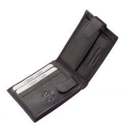 Kisebb méretű klasszikus bőr tárcák kedvelőinek ajánljuk ezt a fekete színű, Chioco márkajelzésű minőségi férfi pénztárca modellünket.