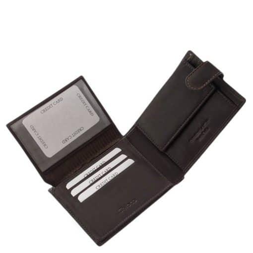 Prémium minőségű és egyben igazán praktikus férfi bőr pénztárca valódi bőrből, mely divatos színekben és kártyatartós kivitelben kapható.