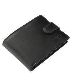 Minőségi valódi bőr férfi pénztárca fekete színben, klasszikus két oldalra nyíló kivitelben. Fedelén a Chioco Luxury márka mutatós logója.