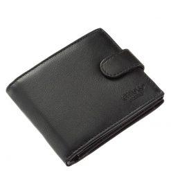 Valódi bőr férfi pénztárca a minőségi Chioco Luxury márkától, mely fekete színű nappa bőr felhasználásával készült klasszikus kivitelben.