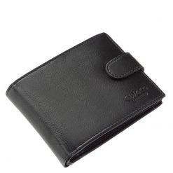 Minőségi kivitelben készült Chioco Luxury márkajelzésű, fekete színű valódi bőr férfi pénztárca klasszikus kialakítású belsővel.