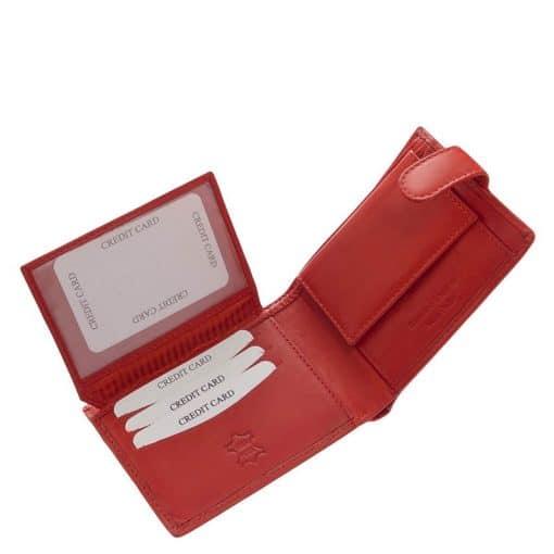 Magas minőségű kártyatartós kialakítással készült, valódi bőr női pénztárca, mely ideális választás lehet ebben a piros színben.