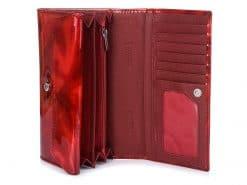 Az aktuális divatot követő nagy méretű lakk bőr női pénztárca, mely fényes piros színben kapható a divatos ALESSANDRO PAOLI márkától.