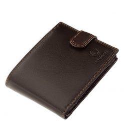 Minőségi gyártási technológiával készült igazi természetes bőrből gyártott Chioco márkájú férfi bőr pénztárca barna és fekete színekben.