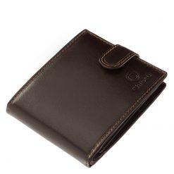 Természetes valódi bőrből készült, férfi bőr pénztárca fekete és barna színekben, mely a minőségi Chioco márka egyik legújabb terméke.