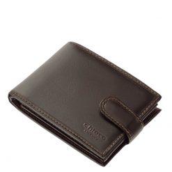 Minőségi marhabőrből gyártott, klasszikus kialakítású férfi bőr pénztárca elegáns fekete és barna színekben, a Chioco márkacsaládtól.